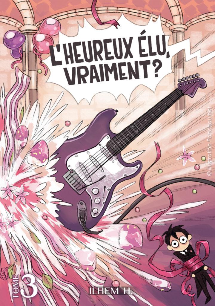Dernier tome de la trilogie de L'Heureux Elu, Vraiment ? Un final en feu d'artifice de yaoi, un festival d'érotisme, du BL en folie, bref un grand moment de fujolittérature ! Illustration de couverture par Poncho !